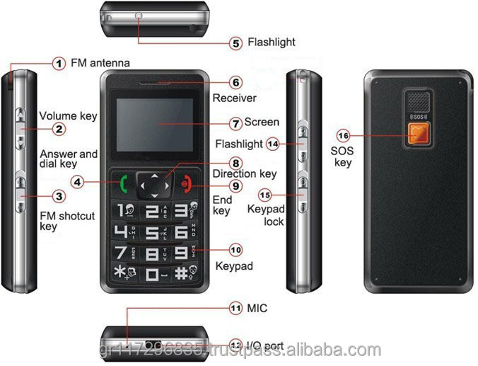 Personal Mobile phone - gps tracker Leo 788 logate a mobile phone