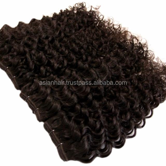 Black Water Wave Easy Loop Curly Human Hair Weft East European Remy Virgin Hair