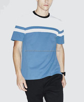 Super light Weight two tone sporty style cotton t shirt,with contrast collar