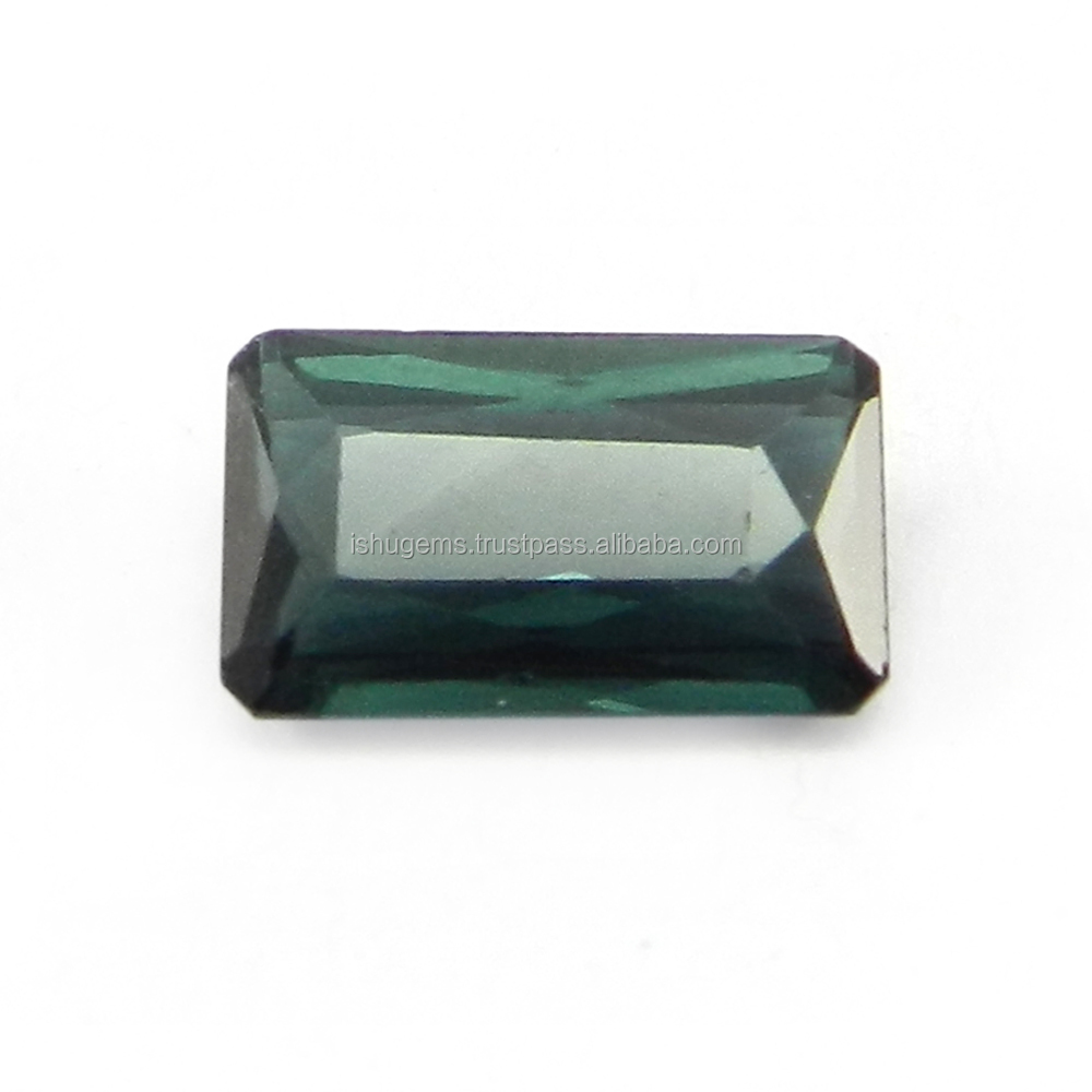 Tanzanian Natural Blue Tourmaline Princess Cut Baguette 10.50X6.50mm 2.10Cts Gemstone for Jewellery IG4816