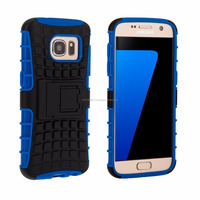 Tough Stand Hard Case for Samsung Galaxy S7 Blue