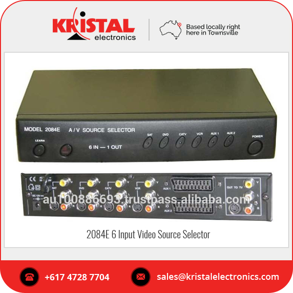 Australia Wholesale 2084E 6 Input Video Source Selector