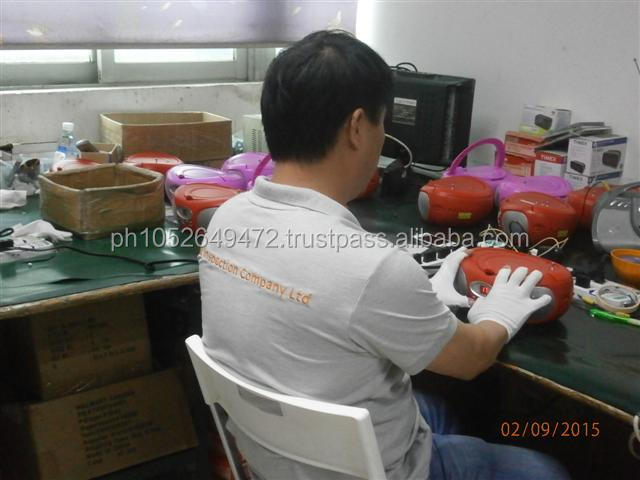 CD-Player /Portable Radio Pre-Shipment Inspection in China