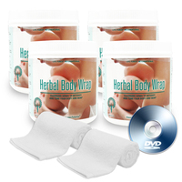Herbal Body Wrap Starter Pack - Cleanse, detoxify and rejuvenate skin spa treatment pack for skin beauty