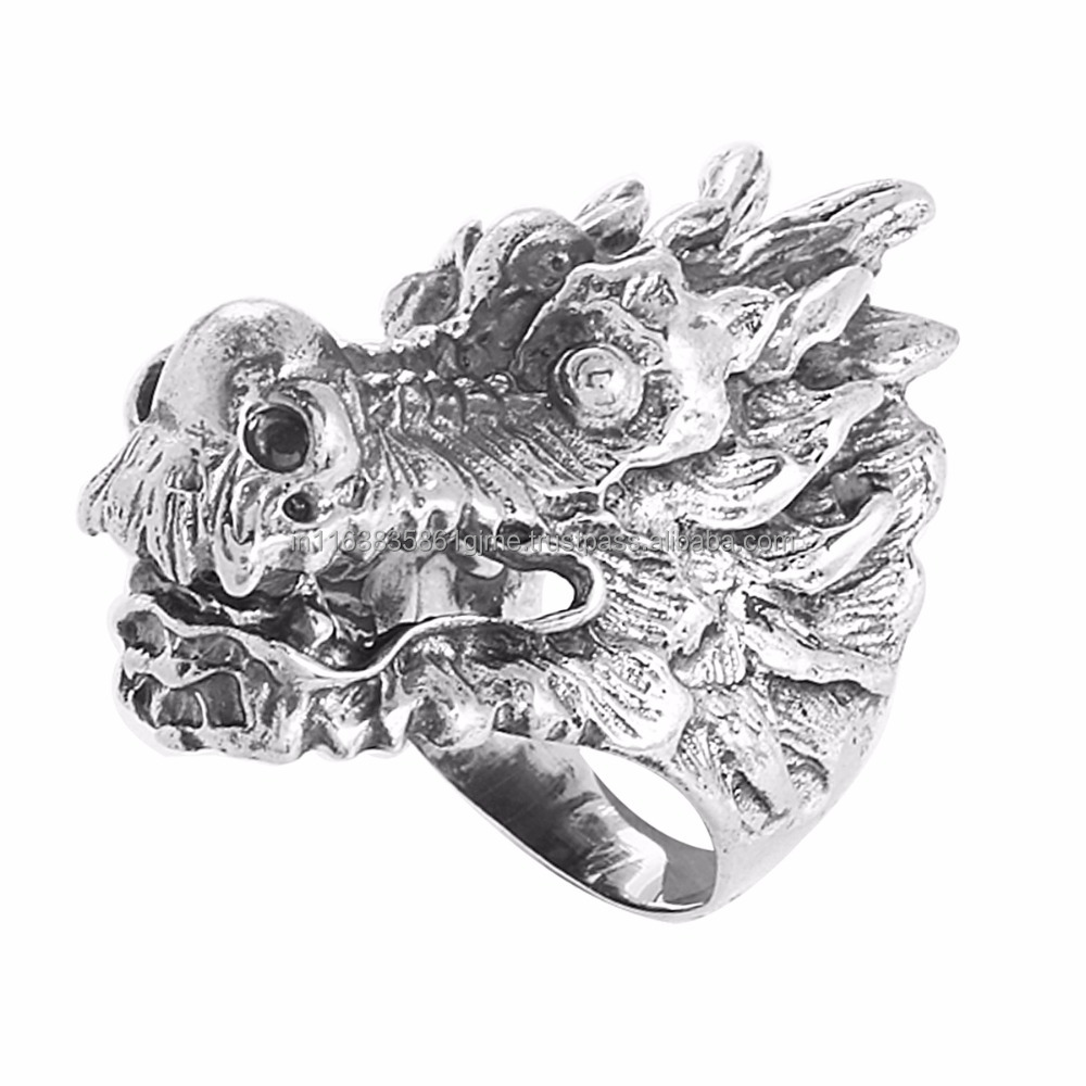 925 Sterling Silver Dragon Shape Ring, Indian Stylish silver rings, Wholesale Silver Jewelry SHRI0357