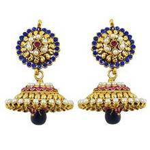 Bollywood Earring Goldtone Cz Stone Dangler Earring Wedding Jewellery Indian Gift For Her -BSE4310
