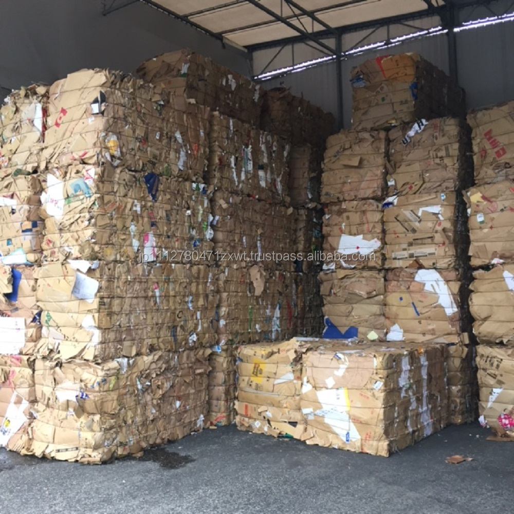 Carefully selected used cardboard wastepaper for recycling