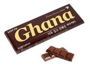 KOREA LOTTE Ghana Chocolate 70G