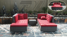 Top sales double sun lounger,rattan double bed