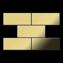 Mosaic massiv metal Brass mill gold 1,6mm thick Article Subway-BM Collection Subway by ALLOY