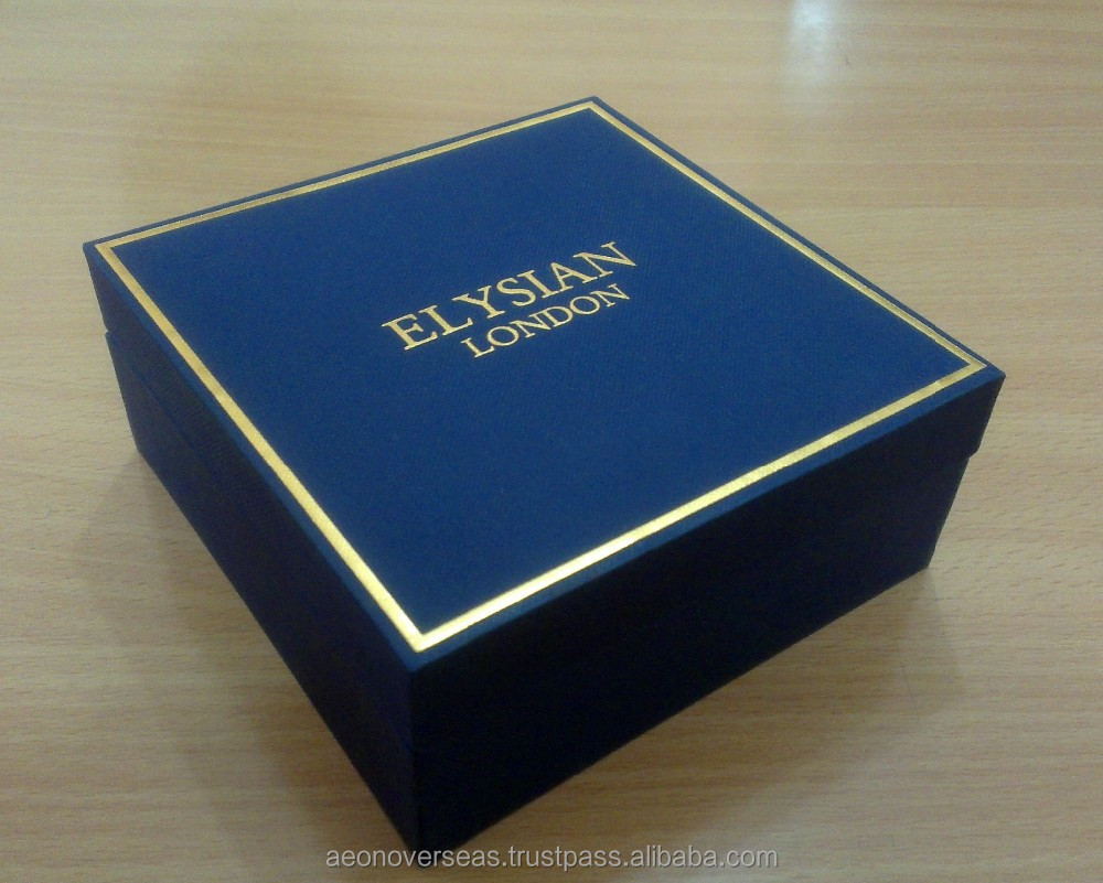 Customized Golden Stamping Logo Premium Gift Packaging Box