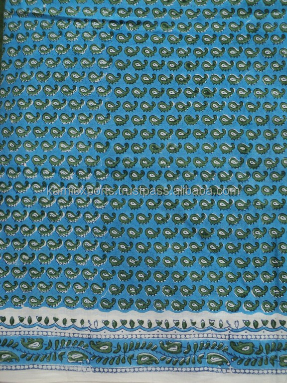 High quality viscose fabric / 2015 block printed fabric / Paisley design printed viscose fabric
