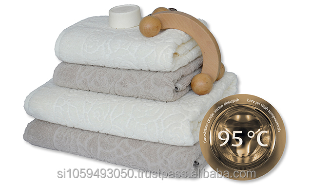 jacquard organic design bath towel