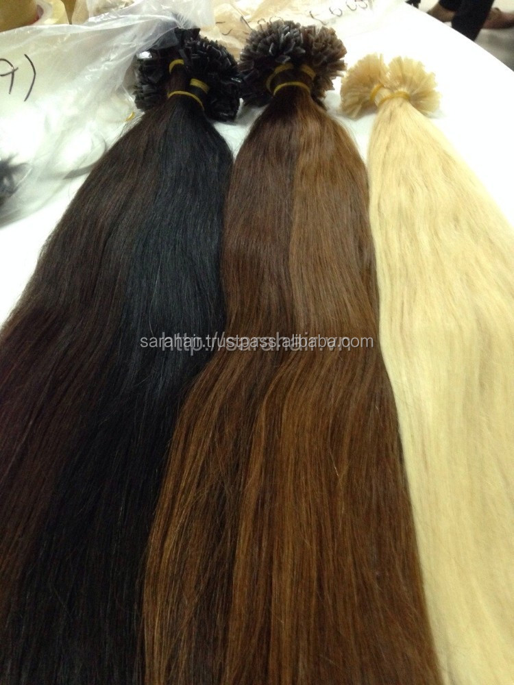 wholesale high quality deep wave blonde 10-30 inch i tip hair extensions