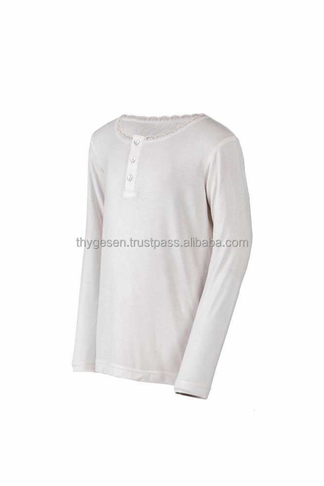 Boys Long sleeve T-shirt 92% Cotton 8% Spandex