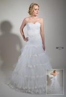 Wedding dress half mermaid ribbon tied back, flower belt
