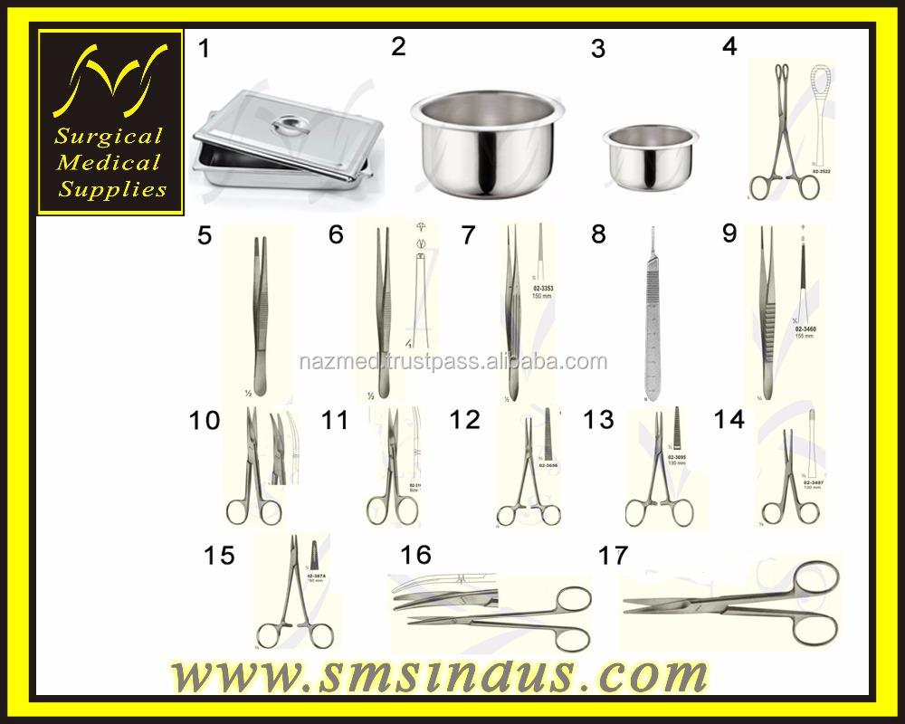 Surgical Medical Supplies TOILET AND SUTURE SET