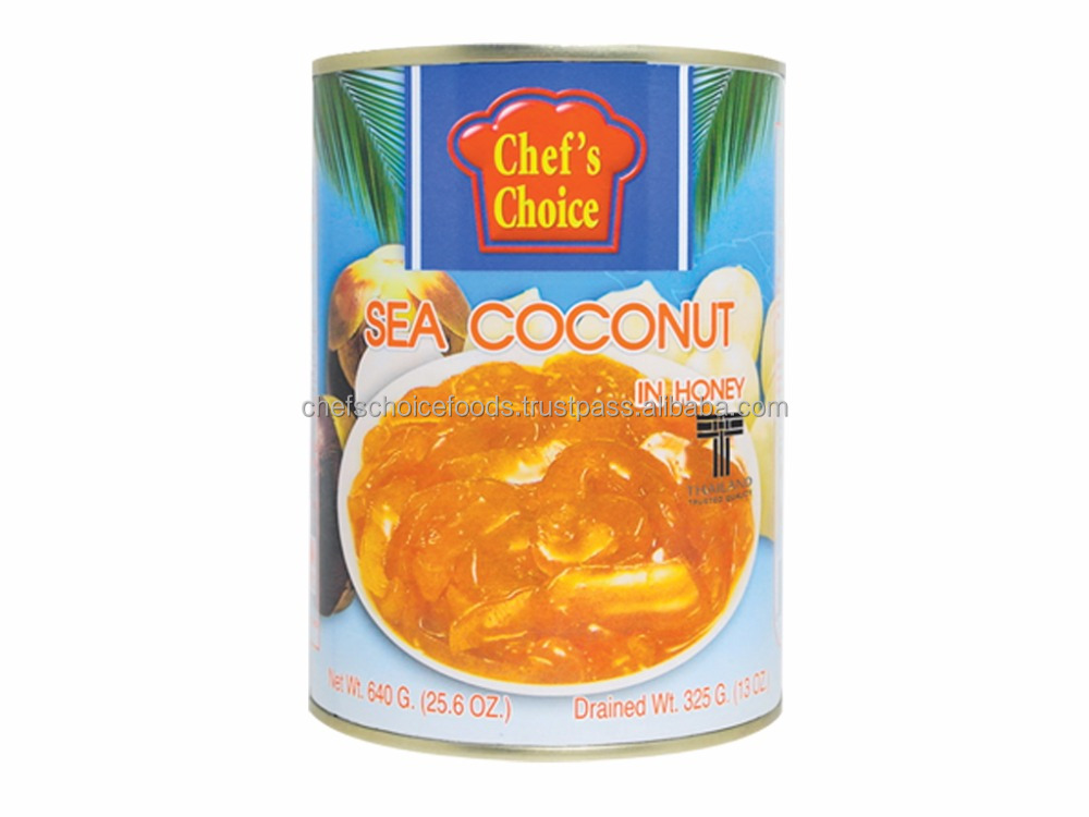 The Best Quality Canned Sea Coconut (Palm seed) in Honey from Thailand -Chef's Choice fruit product