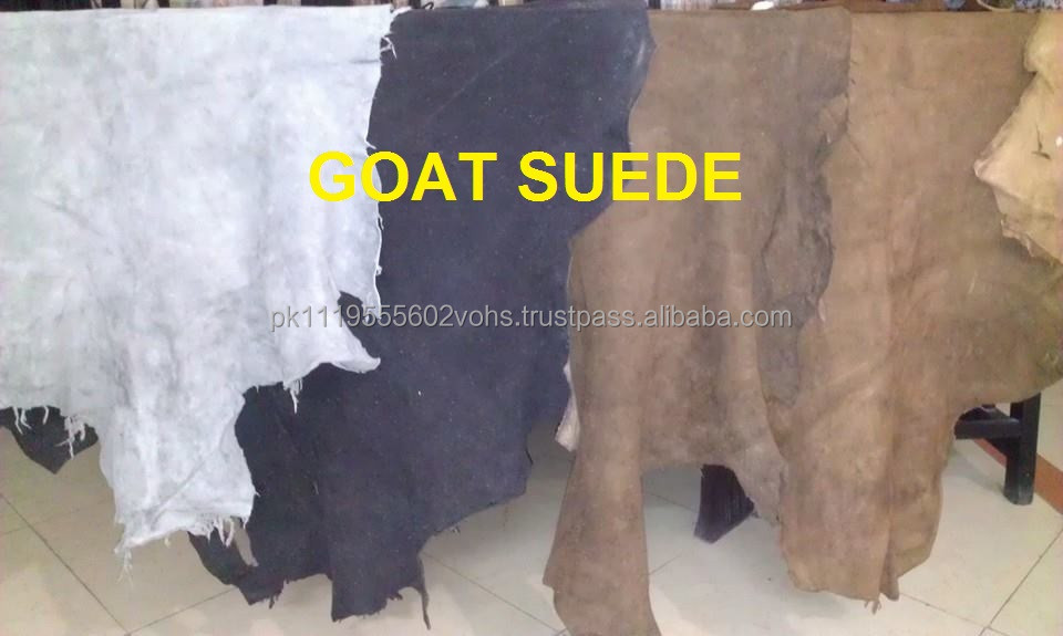Soft goat suede leather/Sheep skin suede leather