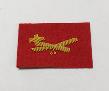 HAND EMBROIDERED BLAZER BADGES NEW DUKE OF LANCASTERS MESS DRESS GLIDER SLEEVE BADGE LANCS SLEEVE PATCH FLASH