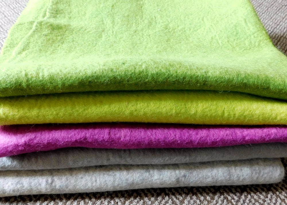 100% Wool Felt Fabric Handmade Colored Felt Sheets