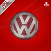 2 Pieces Car Key Logo Auto Emblems Dia:1.4cm Car Styling Sticker, Red Color for VW Golf Rabbit Bora Polo Touran Tiguan Jetta
