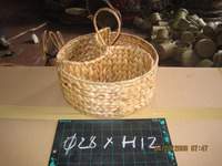 Best sale gift basket Ecofriendly water hyacinth tray, food tray, bread tray, decorative, made in Vietnam.