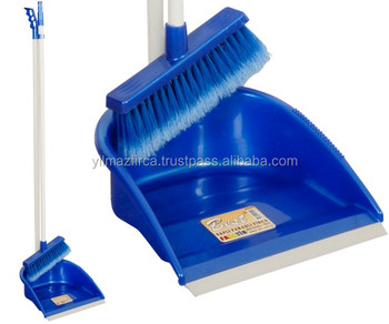 Hard and Long Plastic Dustpan with good quality broom