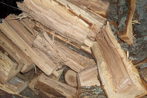 Beech and Oak Firewood on pallets