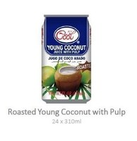 Young Roasted Coconut Juice with Pulp