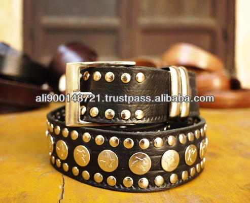 Moroccan genuine leather belt