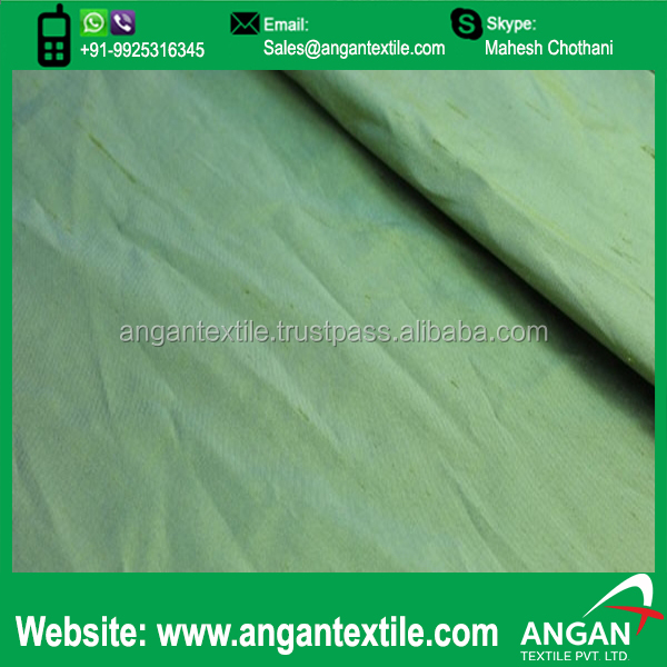 Green Shot chiku Taffeta Fabric