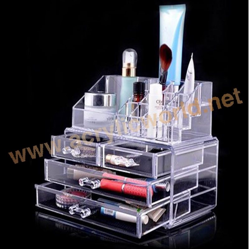 3 drawer acrylic makeup storage containers