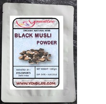 INDIAN BLACK MUSLI, Curculigo Orchioides Indian Herbs Powder, Natural Fresh