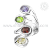 Exclusive Indian Silver Jewelry Multi Gemstone Ring Exporter Wholesale Silver Jewelry Online