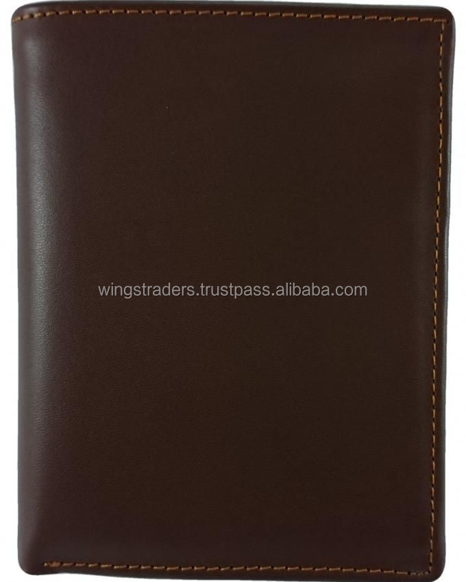 book style cowhide leather premium quality for men