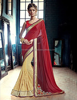 Vivacious Maroon Georgette Designer Saree/indian saree names/beads for saree blouse accessories