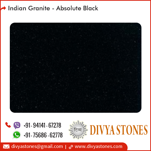 Natural Polished Absolute Black Indian Granite Price