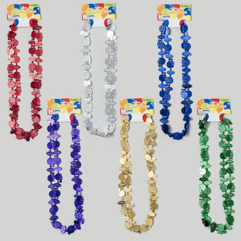 NECKLACE 2CT FOOTBALL THEME 32INL 6AST COLORS #G24787