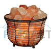 Iron Wrought Basket Lamp with Salt Chunks(Standard 7' Inches)