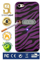 Hot new products for 2016 Purple Zebra mobile phone lighter case for iPhone 5 5S SE