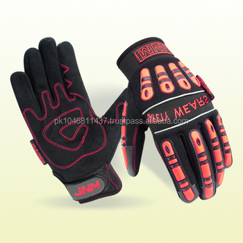 Mechanic Working Gloves with TPR Inject