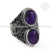 Impressive Amethyst Gemstone Ring Below Wholesale Sterling Silver Jewelry Handmade Silver Jewelry