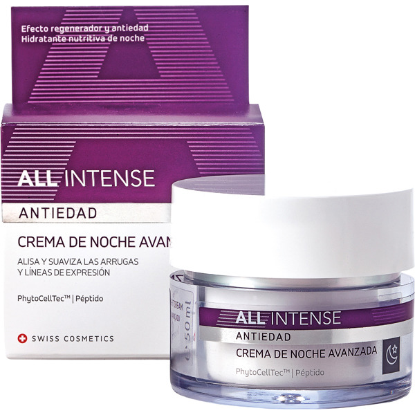 ALL INTENSE Advanced anti-ageing night cream jar 50 ml smoothes and softens wrinkles and laughter lines