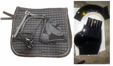 Crystal Saddle pad with set