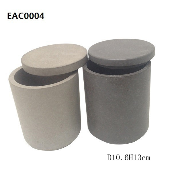 Marble cement Ceramic containers for bath salts candle jar wholesaler