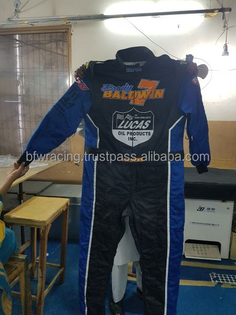 Nomex Car Racing Double Layer Suit Custom Design Unlimited Embroidery