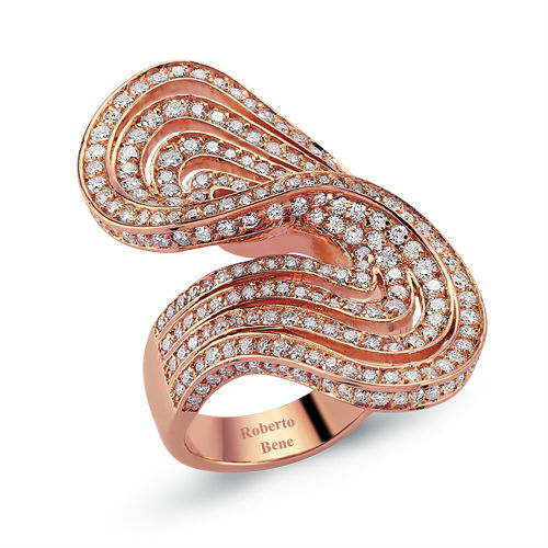 Diamond ring 18K rose gold jewelry
