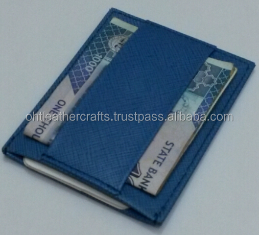 RFID blocking minimalist leather wallet