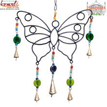 Iron craft butterfly wind chime wholesale decoration wind chimes india